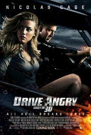 drive angry 3d movie poster  image
