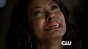 bonnie cries with blood in vampire diaries episode 22,season 2 image