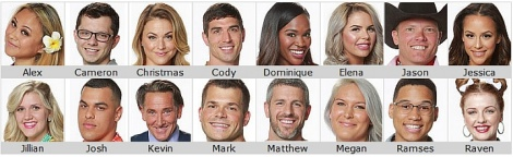 big brother season 19 cast image