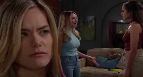 'Bold And The Beautiful' Hope Will Accidentally Hear Flo & Zoe Stolen Baby Conversation Soon